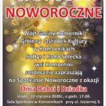 Plakat na spotkanie noworoczne dziadków na 22 stycznia 2020