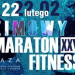 Plakat na maraton fitness na 22 lutego 2020