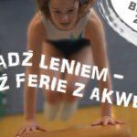 Plakat o zajęciach zimowych 2020 w Akwenie Czerwonak