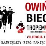 Plakat biegu w Owińskach na 1 marca 2020