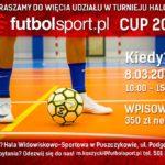 Plakat turnieju halowego w Puszczykowie na 8 marca 2020