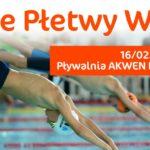Plakat na zawody pływackie na 16 lutego 2020