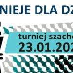 Plakat na turniej szachowy na 23 stycznia 2020