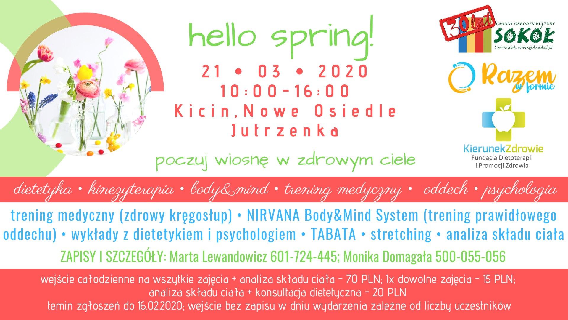 Hello spring - poczuj wiosnę w zdrowym ciele