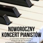 Plakat na noworoczny koncert pianistów na 24 stycznia 2020