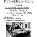 Plakat na poranek historyczny na 25 stycznia 2020
