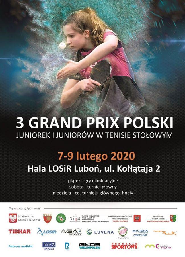 3 Grand Prix Polski w Tenisie Stołowym w Luboniu