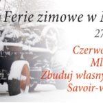 Plan zajęć podczas ferii zimowych 2020 w Szreniawie
