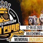 Plakat na wyścigi psich zaprzęgów na 7 i 8 marca 2020