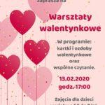 Plakat warsztatów walentynkowych w Murowanej Goślinie