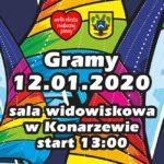 Plakat 28 finału WOŚP w Konarzewie