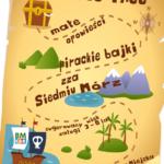 plakat pirackie bajki zza siedmiu mórz w bibliotece miejskiej w Puszczykowie 20 luty 2020 godz. 16:30-17:00