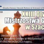 zapowiedź mistrzostw gminy w szachach - OK w Murowanej Goślinie 8 marca 2020 godz. 10