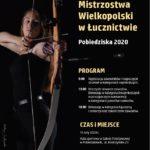 plakat halowych mistrzostw wielkopolski w łucznictwie w Pobiedziskach 16 lutego 2020
