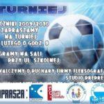 plakat turnieju piłki nożnej 22 luty godz 9