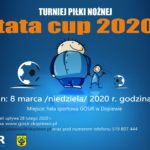 zapowiedź turnieju piłki nożnej tata Cup 2020 8 marca 2020 godz. 9w hali sportowej GOSiR w Dopiewie