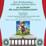 plakat Bajkowe Czytanki 14 marca 2020 godz. 9:30 - spotkanie małych kinomaniaków