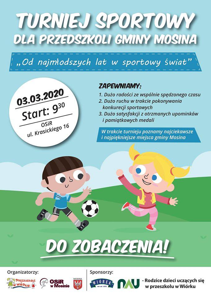 Turniej sportowy przedszkoli w gminie Mosina