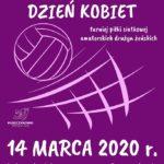 Plakat Siatkarskiego Dnia Kobiet mającego miejsce 14 marca 2020 w hali widowiskowo-sportowej w Puszczykowie
