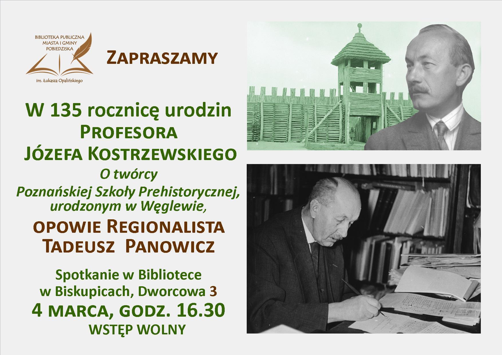 135 rocznica urodzin prof. Józefa Kostrzewskiego