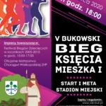 plakat biegu księcia Mieszka I, termin 7 czerwca 2020, start godz. 18