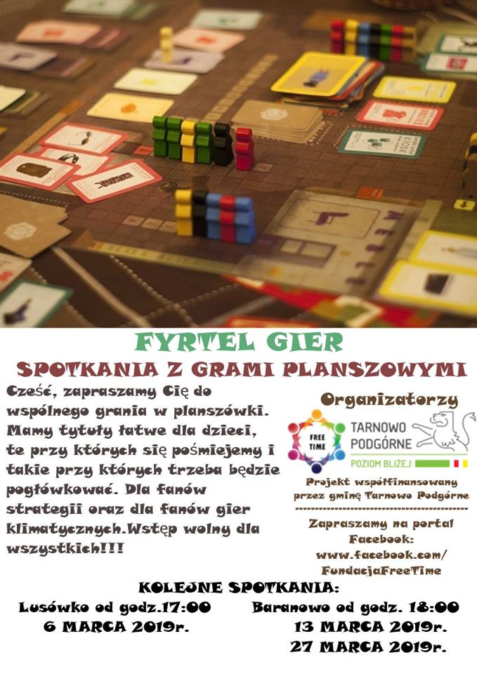 Gramy w gry planszowe - Fyrtel Gier Lusówko