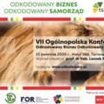 Plakat ogólnopolskiej konferencji dla samorządów