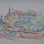 Grafika pałacu i zamku
