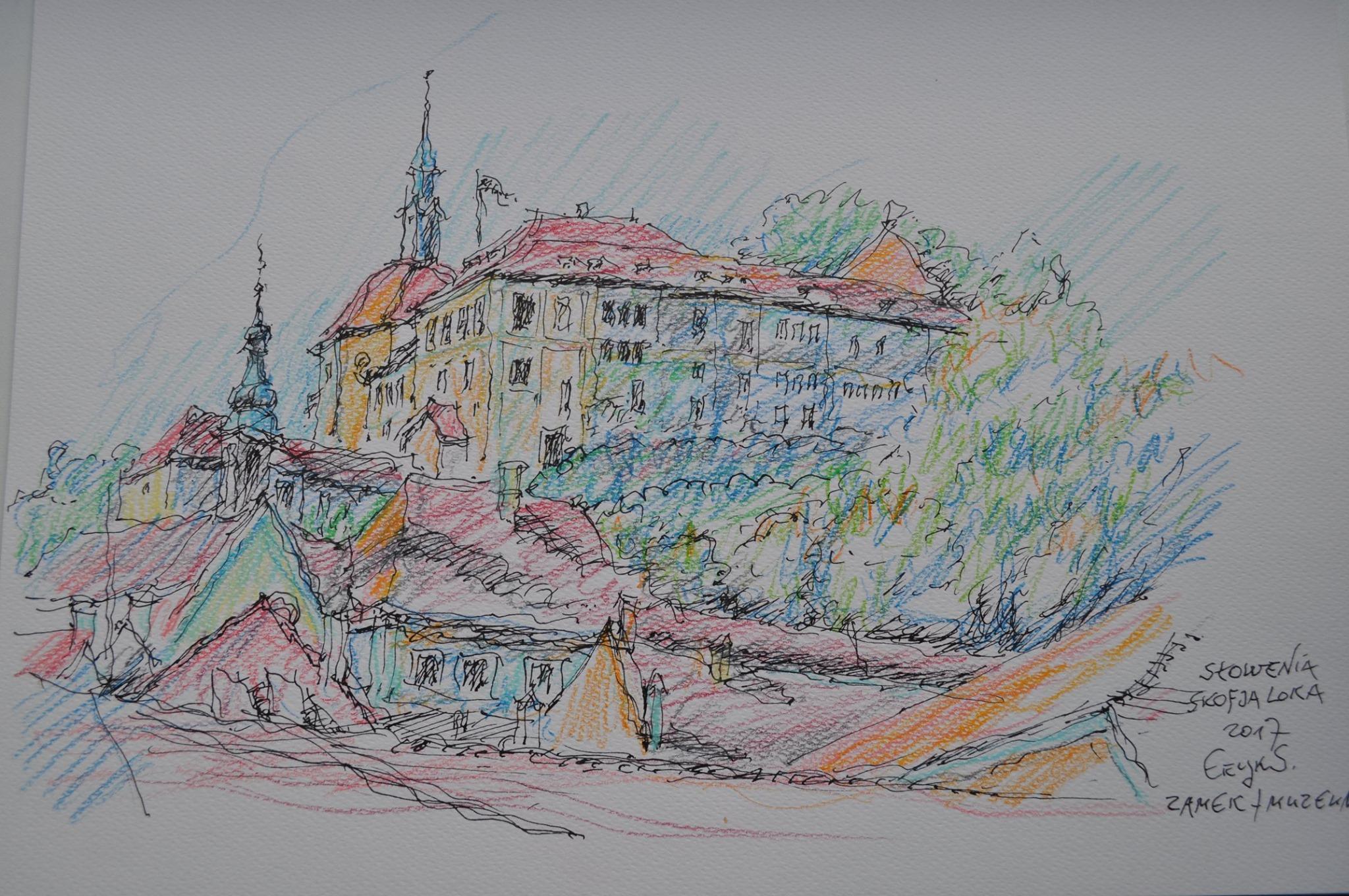 """Wernisaż grafik E. Sieińskiego """"Słowenia. Szkice z podróży"""""""