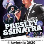 Plakat na koncert Presley i Sinatra na 4 kwietnia 2020