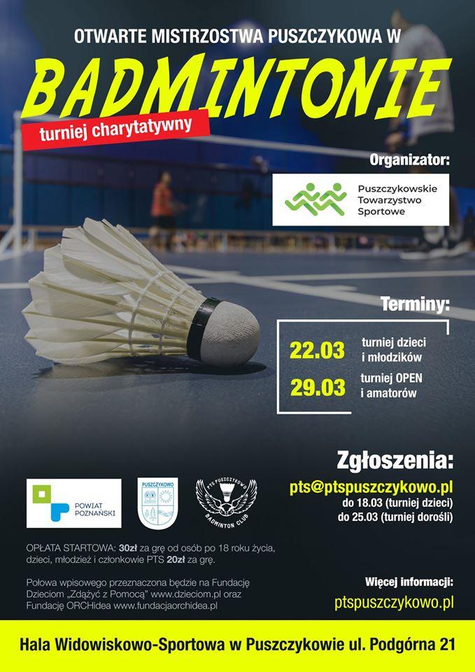 Otwarte Mistrzostwa Puszczykowa w Badmintonie
