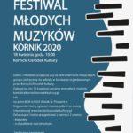 Plakat Festiwalu Młodych Muzyków Kórnik 2020