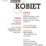 Plakat na dzień kobiet na 7 i 8 marca 2020