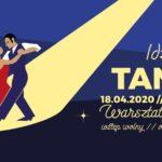 Plakat warsztatów tanecznych na dzień 18 kwietnia 2020