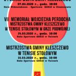 Plakat turnieju tenisa stołowego w Kleszczewie