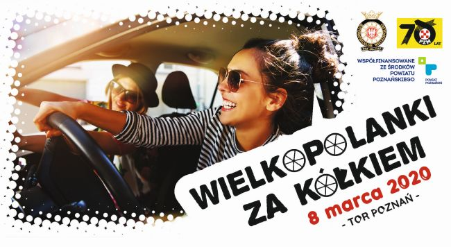 Plakat na Wielkopolanki za kółkiem 2020 na 8 marca 2020