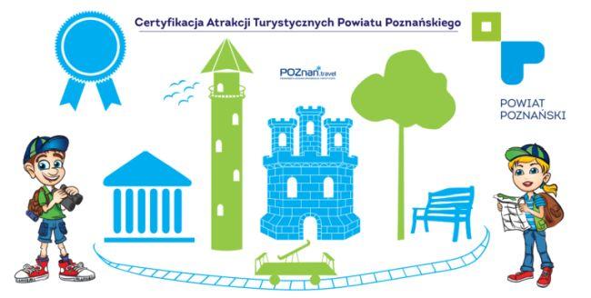 Logo akcji Certyfikacja Atrakcji Turystycznych Powiatu Poznańskiego