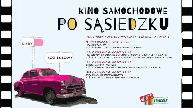 kino samochodowe plakat