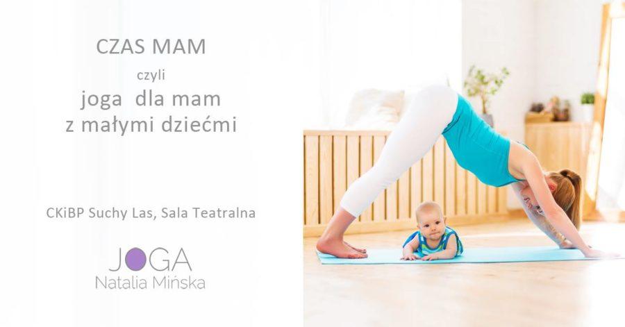 plakat joga dla mam z dziećmi