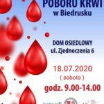 plakat akcja poboru krwi suchy las