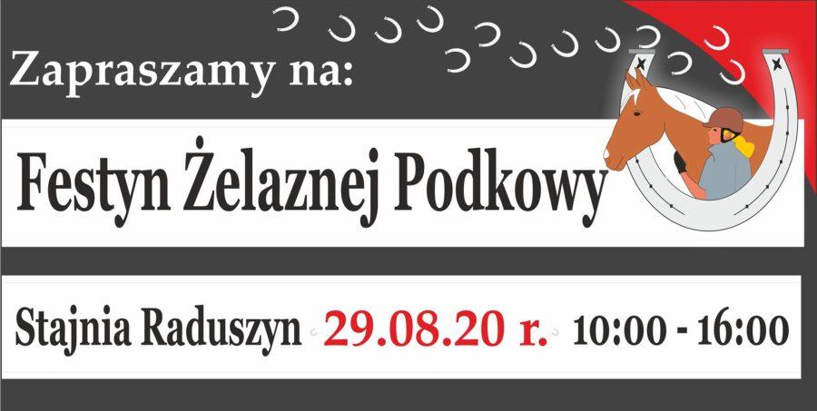 plakat festyn żelaznej podkowy raduszyn 29 sierpnia 2020 godzina 10:00