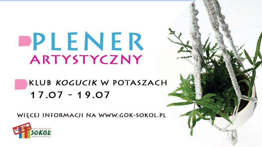plakat Plener artystyczny w Klubie Kogucik