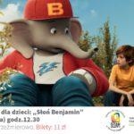 plakat kino dla dzieci słoń benjamin