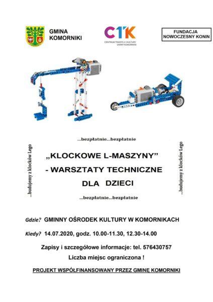 plakat klockowe l-maszyny w komornikach 14 lipca 2020