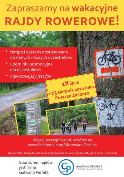 plakat rajd rowerowy puszcza zielonka