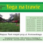 Plakat Yoga na trawie