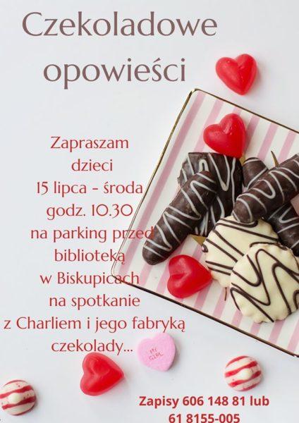 plakat czekoladowe opowieści