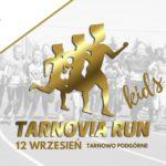 plakat tarnowia run kids 12 września 2020 w tarnowie podgórnym na plakacie grafika dzieci biegających