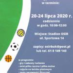 Wakacyjne zajęcia sportowe dla dzieci i młodzieży plakat