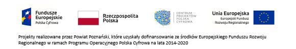 logotypy Funduszy Europejskich, Rzeczpospolita Polska, Centrum Projektów Polska Cyfrowa oraz Unii Europejskiej,